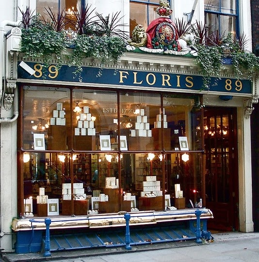 Floris perfumes - established in 1730 and still run by the Floris family at 89 Jermyn Street.