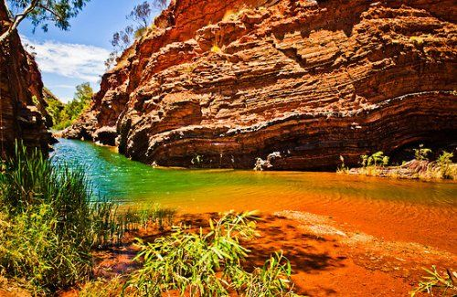 Hamersley Range, Australia....beautiful place not far from where I last called home! The colours in the rock are magical!