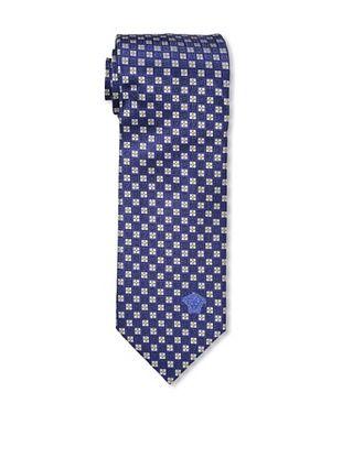 67% OFF Versace Men's Medallion Tie, Blue/White/Yellow