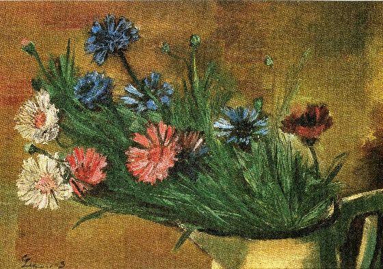 꽃, 1943년作, 이인성
