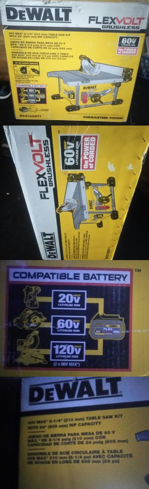 Other Power Saws and Blades 122838: Dewalt Dcs7485t1 60V Max Brushless Table Saw W Battery And Charger -> BUY IT NOW ONLY: $444.99 on eBay!