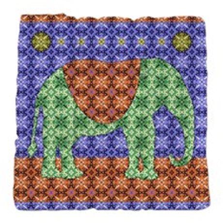 Colorful Elephant Tufted Chair Cushion