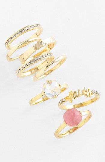 Stackable rings... love!  Ariella Collection Rings | Nordstrom