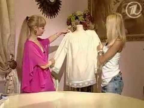 Olga Nikishicheva. Fashion blouse for half an hour! - YouTube