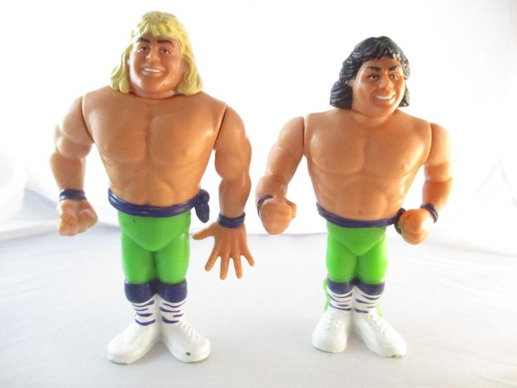 WWF The Rockers Shawn Michaels Marty Jannetty Tag Team lot Hasbro 1991 #Hasbro