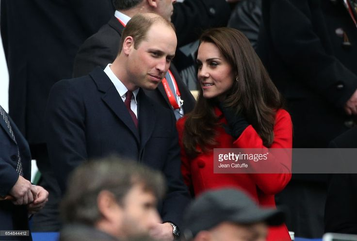 Prince William and Kate Middleton attend the RBS 6 Nations rugby match between France and Wales at Stade de France on March 18, 2017 in Saint-Denis near Paris, France. (Photo by Jean Catuffe/Getty Images)