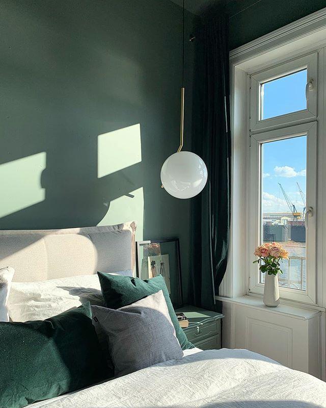 Schlafzimmerdeko Und Flos Lampe Zimmer Schlafzimmer Ideen Haus