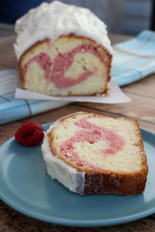 Copycat Starbucks Raspberry Swirl Pound Cake | There's nothing more delicious and fruity than this pound cake!!