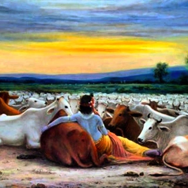 You all can see Shri Krishna's love for mother cow.. He really loved cows so much..!! And Now we've to think that what we're doing for mother cow..!! Nothing...!! You can see cows now a days very frequently finding her food in the garbage..!! Some people are killing cows in slaughter houses very cruelly to earn money..!! I just I've one question for all of you.. If our real mother will stop giving us milk or anything else .. Should we through her out of homes..?? I know the answer must be NO
