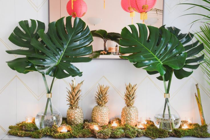 We can't get over how cute this party theme is. Southern Hospitality meets NYC Possibility came alive in spray painted pineapples, pink paper lanterns and Justin's incredible taste. See the details in the slideshow.