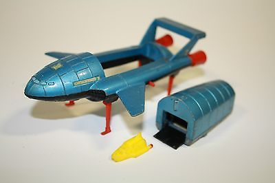 Vintage Dinky Toy Thunderbird 2 and Thunderbirds 4 diecast. Had one of these and, like many others, really regret not keeping it safe and sound