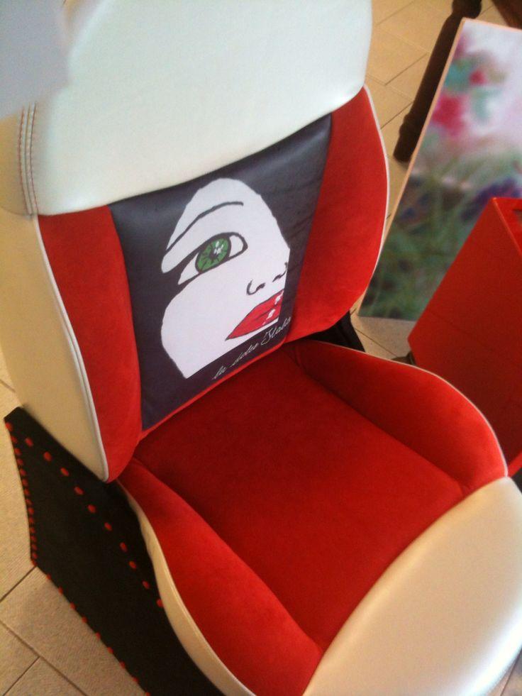 Sedile 500 poltrona con grafica La Dolce Italia by Lellamattadesign