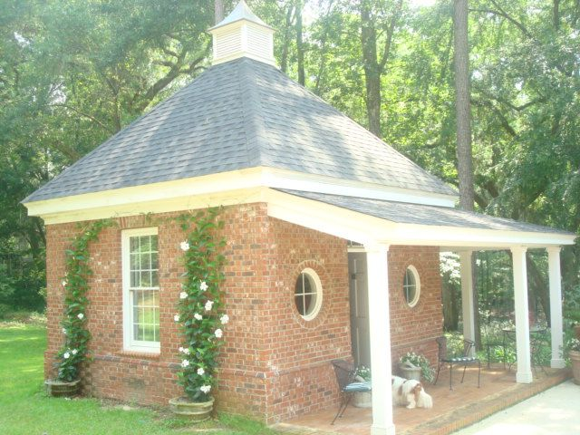 custom brick garden shed with porch terrell county georgia visit us at stevecoxinc