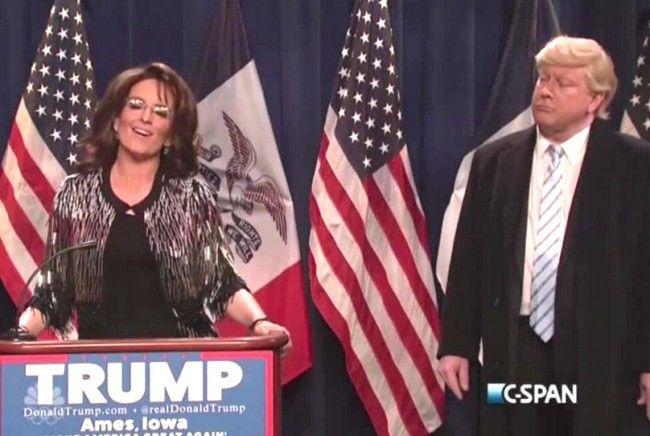 Tina Fey Returns As Sarah Palin to Endorse Donald Trump in SNL Cold Open