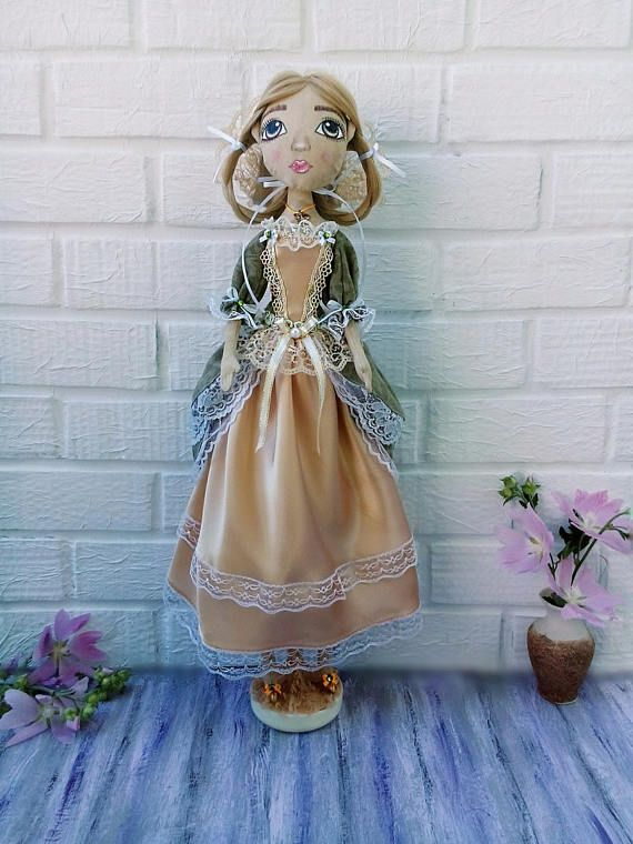Textile doll Handmade doll Fabric Tilda doll Soft doll Cloth