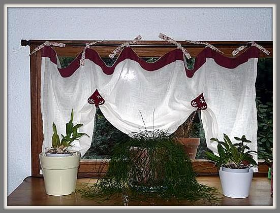 French hand made curtains - country style