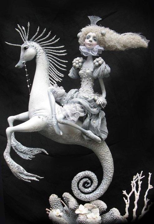 seahorse ride: Seahorses Bike, Inspiration Seahorses Riding, Seahorses Sculpture, White Hue