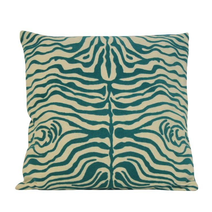 TEAL ZEBRA pillow #teal #zebraprint #summer