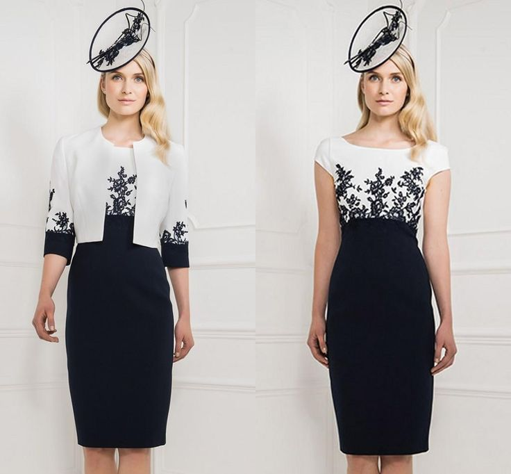 Mother Off Bride Dresses Applique Bateau Cap Sleeves Mother Of The Bride Black And White Mermaid Knee Length Prom Gowns With Jacket Plus Size Mother Of The Groom Dress Tea Length Mother Of The Bride Dresses Plus Size From Newdeve, $126.64| Dhgate.Com