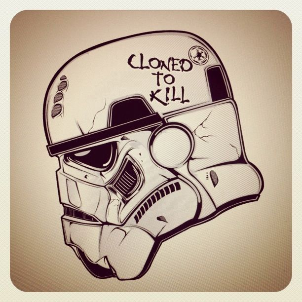 I love this Star Wars Stormtrooper art. Found on Pinterest.