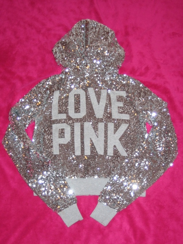 Victorias secret Pink all-over sequin hoodie. Ahhh love!!! Way out there but I want!Victoriasecret, Fashion, Victoria Secret Pink, Hoodie, Style, Clothing, Secretpink, Sparkle, Glitter