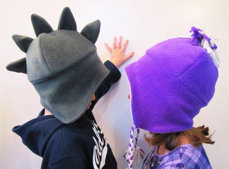 Winter Hats, I love the dinosaur one.!