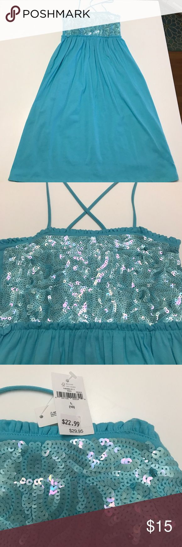 New Gap Kids maxi dress Maxi dress by gap kids with sequin top.   Super cute!! Gap Kids Dresses Casual