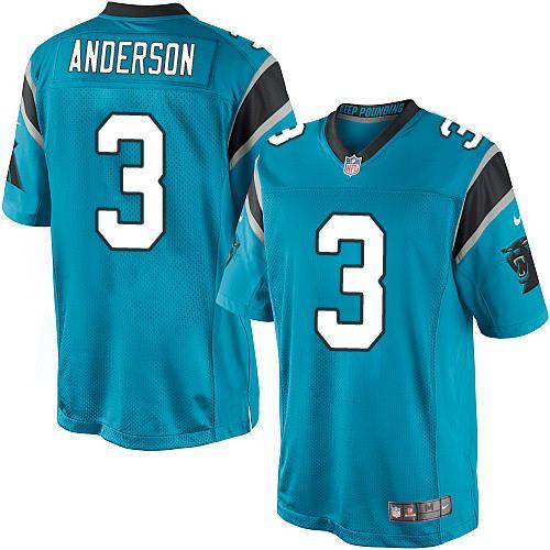 $24.99 Nike Limited Derek Anderson Blue Men's Jersey - Carolina Panthers #3 NFL Alternate