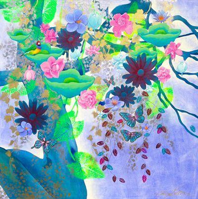 """Enchanted Lotus"" by Cheryl Petersen www.tuskgallery.com.au"