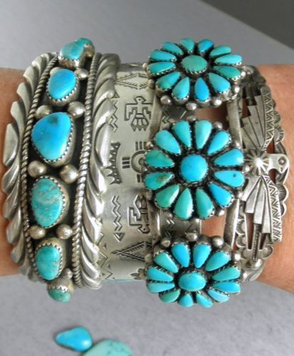 In love with these turquoise stacking bracelets @kaitlynjones2