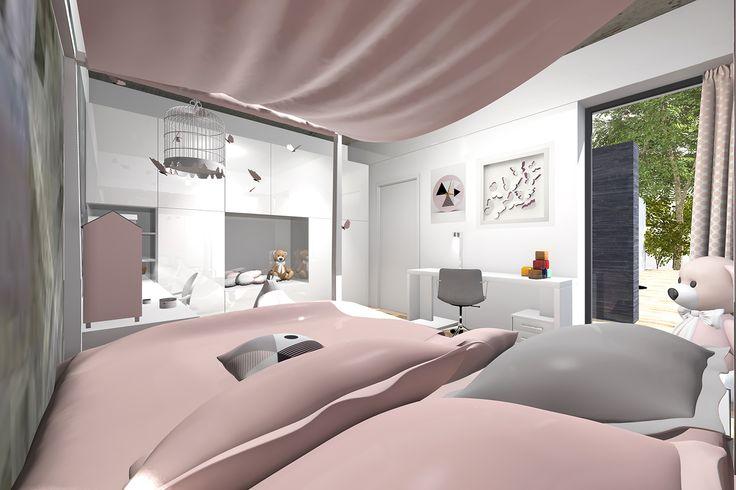 Dievčenská izba s betónovým stropom | Living styles