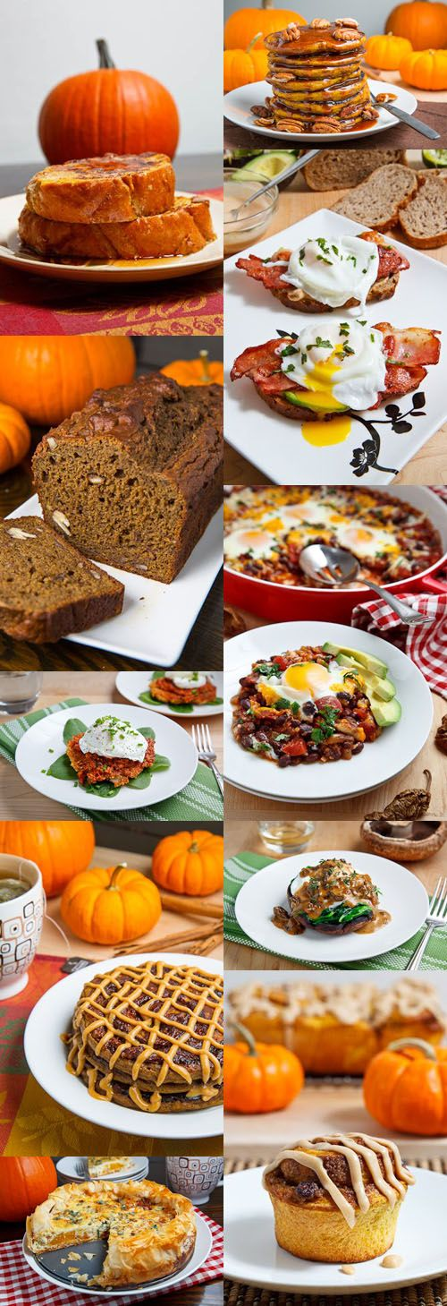 Thanksgiving Breakfasts Collage. OMG! Have you seen this guy's cooking blog? Please cook for me, Mr. Closetcooking.