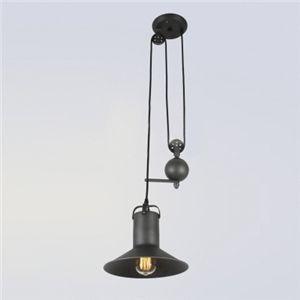 (EU Lager)Pendelleuchte Industrie Stil Höhenverstellbar Schwarz 1-Flammig