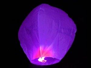 Himmelslaternen Skylaternen 10 Stück in lila: Amazon.de: Garten