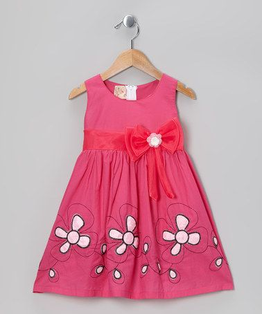 Take a look at this Pink Floral Bow Dress - Toddler & Girls by the Silly Sissy on #zulily today!