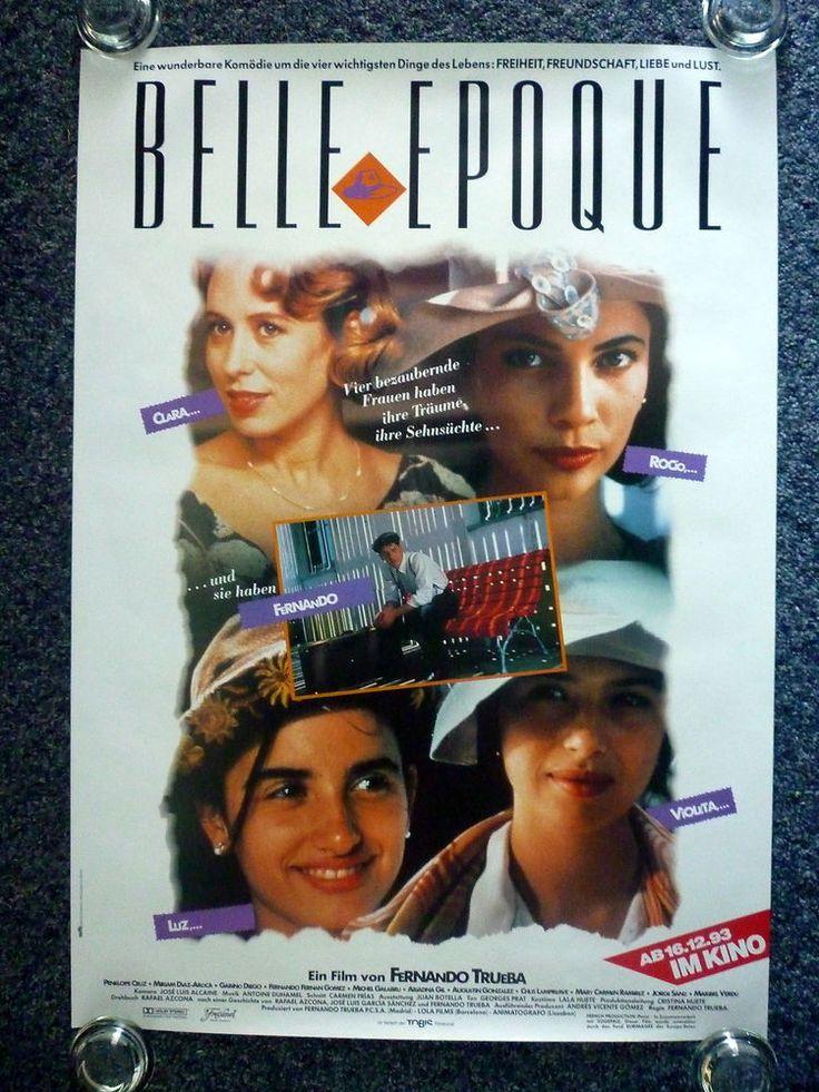 BELLE EPOQUE Original 1992 German A1 Movie Poster Penélope Cruz, Ariadna Gil