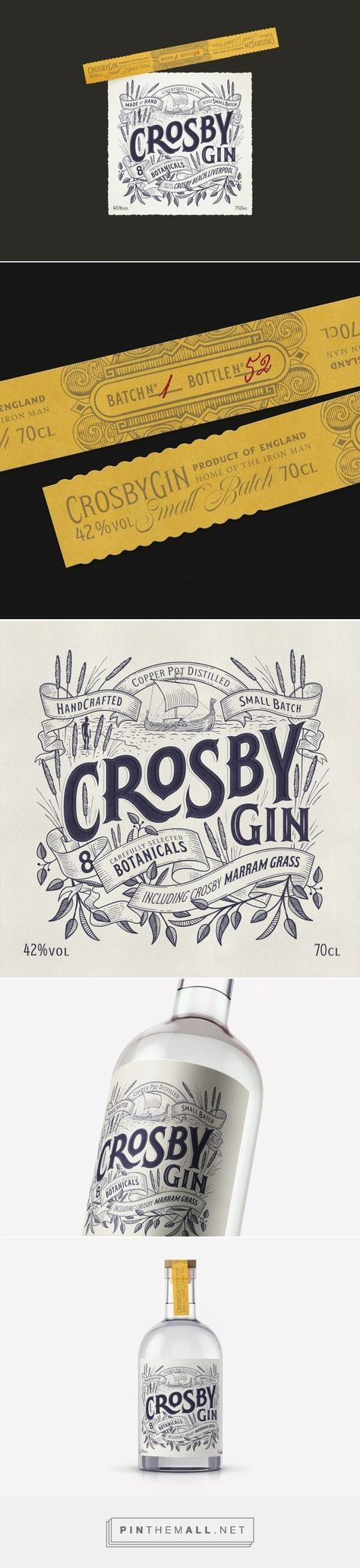 Crosby Gin - Packaging