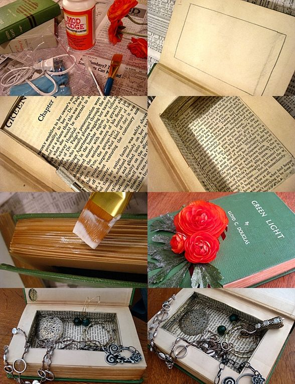 Jewelry box made out of a book - wasnu0027t sure if I wanted to & 25+ unique Diy jewelry box ideas on Pinterest | Cd diy DIY crafts ... Aboutintivar.Com
