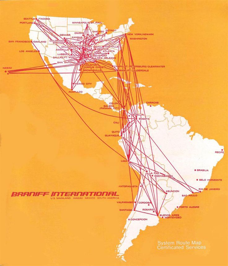 braniff international route map