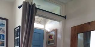Image result for door curtain pole