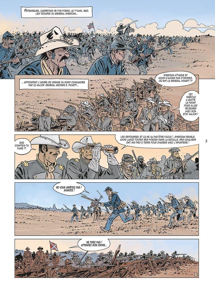 LOr de Morrison  T1 par Daniel Brecht et Roger Seiter Premier avril 1865 dernière bataille de la guerre de Sécession à Petersburg: les troupes sudistes mal commandées sont mises en déroute par larmée unioniste du général Sheridan. Malgré leur vaillance le colonel Marion Michaël Morrison et son cousin le capitaine Henry Toutant Beauregard sont faits prisonniers. Ils perdent toute leur fortune pendant leur captivité.  L'or de Morrison T 1 page 1  Morrison  Sept ans plus tard ils demeurent dans…