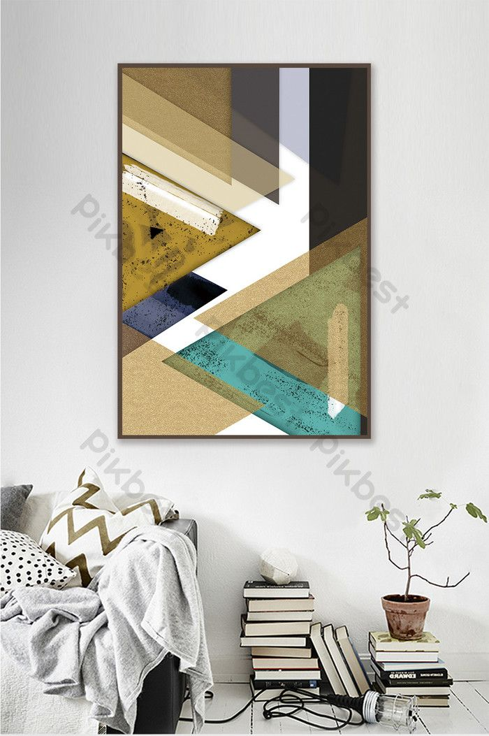 Nordic Style Simple Geometric Pattern Living Room Decoration Painting Decors 3d Models Psd Free Download Pikbest Simple Geometric Pattern Decorative Painting Abstract Geometric Pattern
