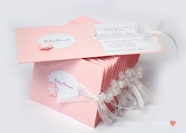 Pink Beautiful Invitations for Baptism or by porTallerdePapel