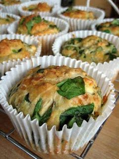 lowcarb : Feta, Cheddar and Spinach Muffins