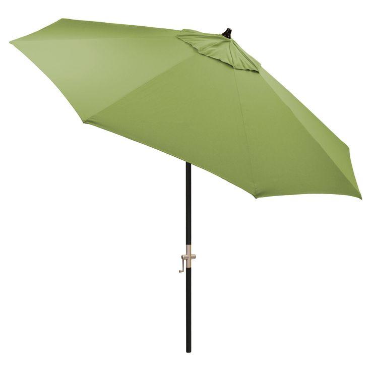 9' Round Sunbrella Umbrella - Spectrum Cilantro - Black Pole - Smith & Hawken, Green