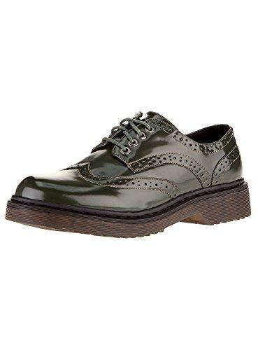 Oferta: 28.3€. Comprar Ofertas de oodji Collection Mujer Zapatos Tipo Oxford de Piel Sintética, Verde, 38 EU / 5 UK barato. ¡Mira las ofertas!
