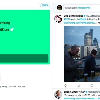 Bloombergs TicToc 24/7 news channel launches as Twitter doubles down on live video  For for the first time in several years we can say without irony that Twitter appears to have a mild wind at its back. A little more than two years after Jack Dorsey returned as CEO investors see http://crwd.fr/2Btn2Yy . . . #mlm#cpa#affiliatemarketing# #marketing #socialmedia #entrepreneur #blogger #business #digitalmarketingmakemoney #entrepreneur…