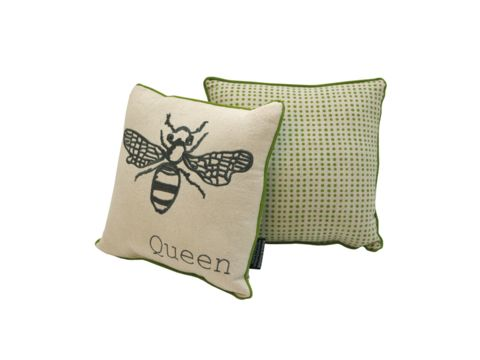 Bee Embroidery Cushion