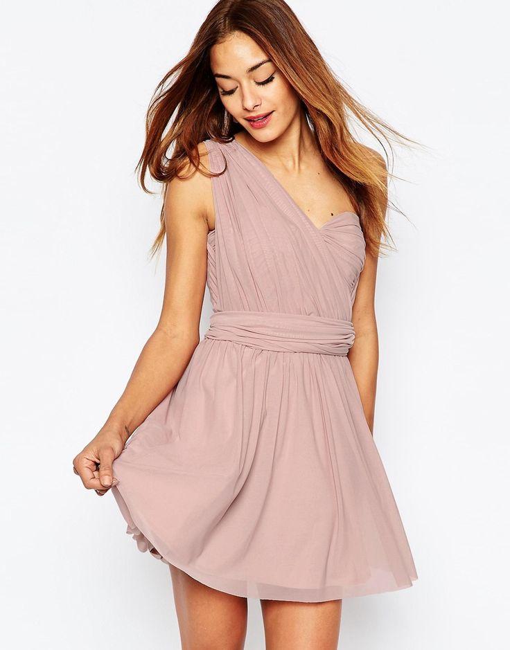 Image 1 ofASOS WEDDING Multiway Mesh Mini Dress