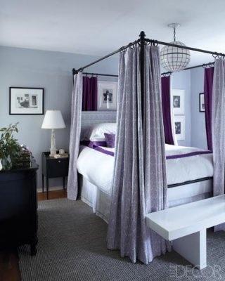 ED0312_Tapert_006-400.jpgElle Decor, Decor Bedrooms, Bedrooms Design, Master Bedrooms, Lavender Bedrooms, Canopies Beds, Purple Bedrooms, Pottery Barns, Bedrooms Ideas